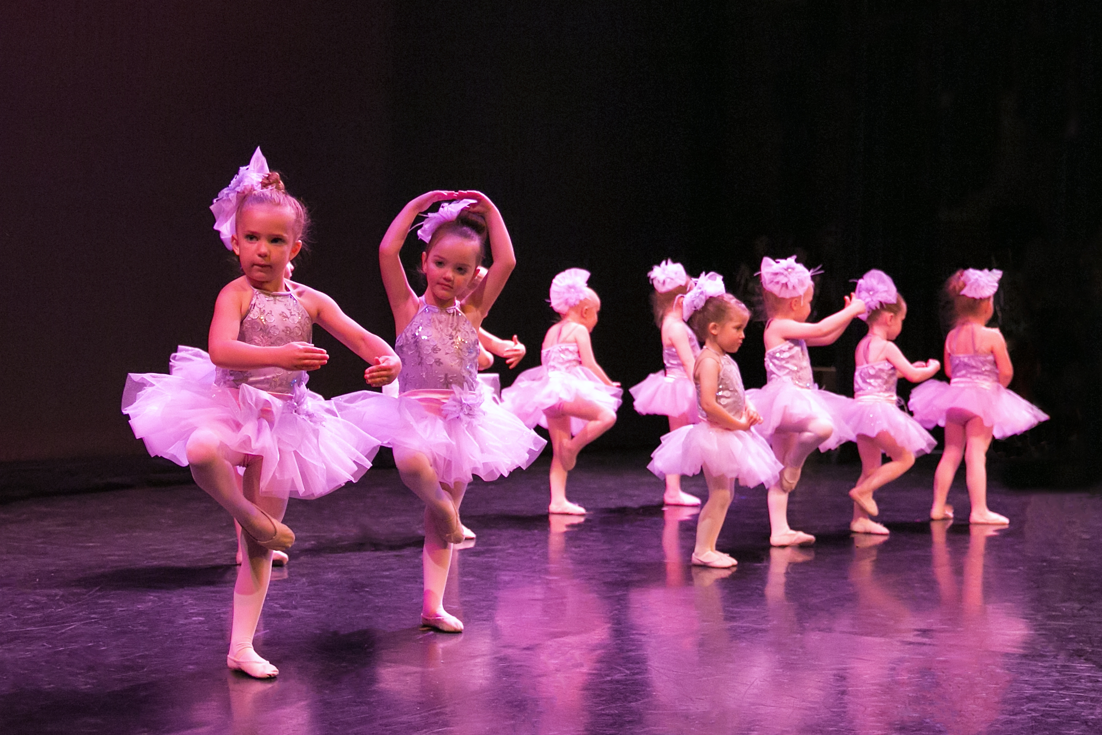 young ballerinas on stage during 2016 Spring Production performance