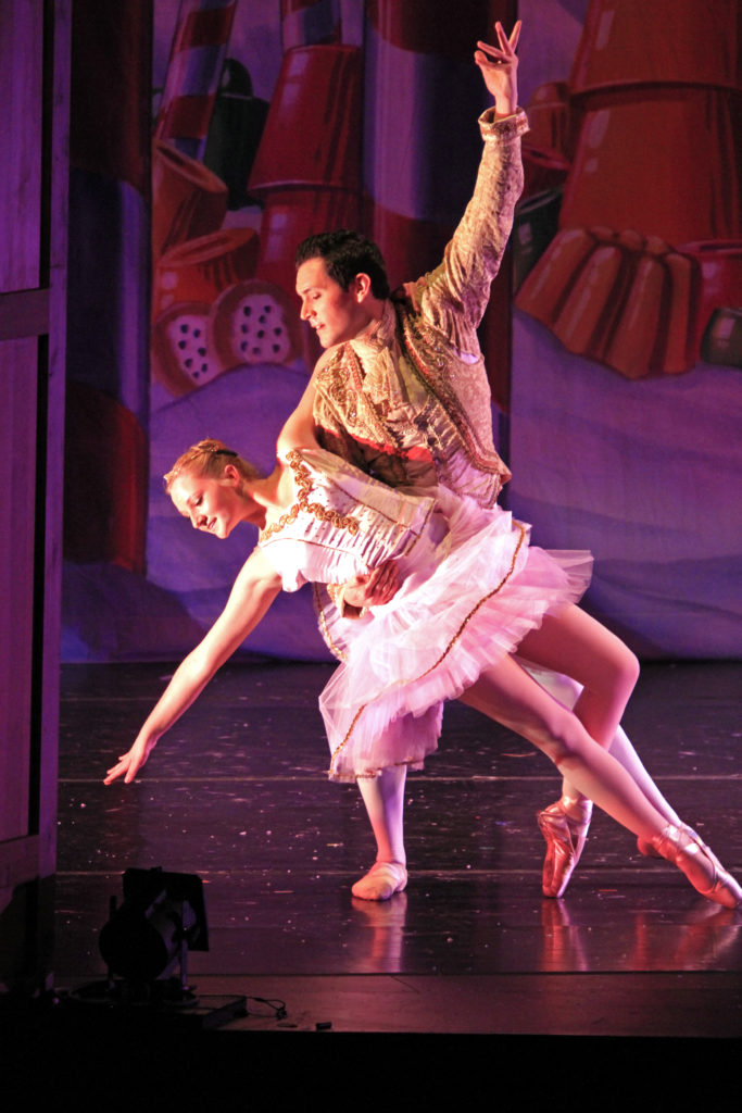 Dance of the Sugarplum fairy with professional cavalier