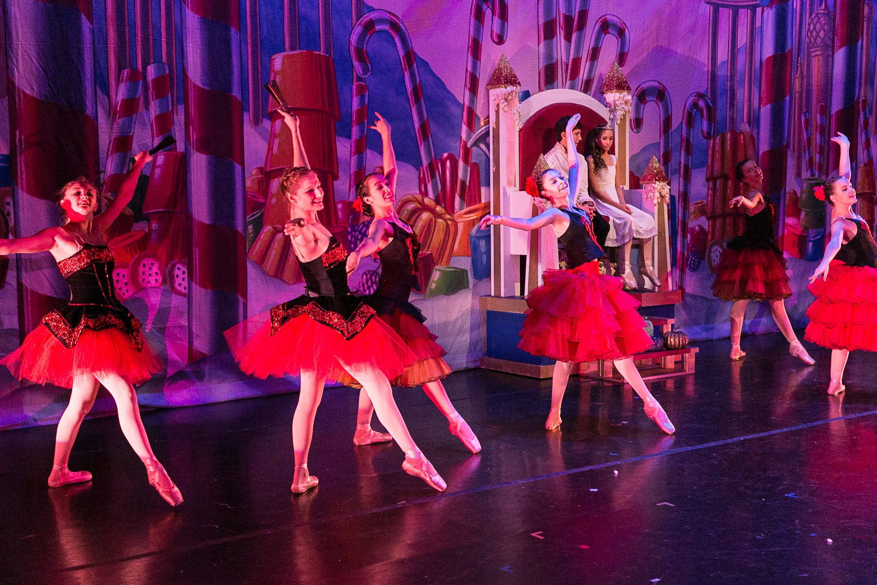 RMDT Spanish dancers at 2015 Nutcracker in Cody, Wyoming