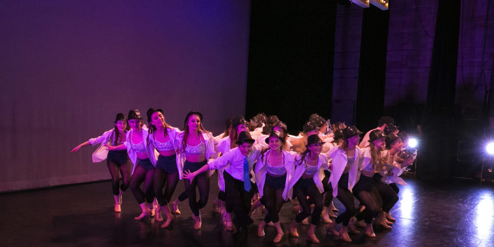 Group of Dancers on stage at Wynona Thompson Auditorium for Spring Production dance