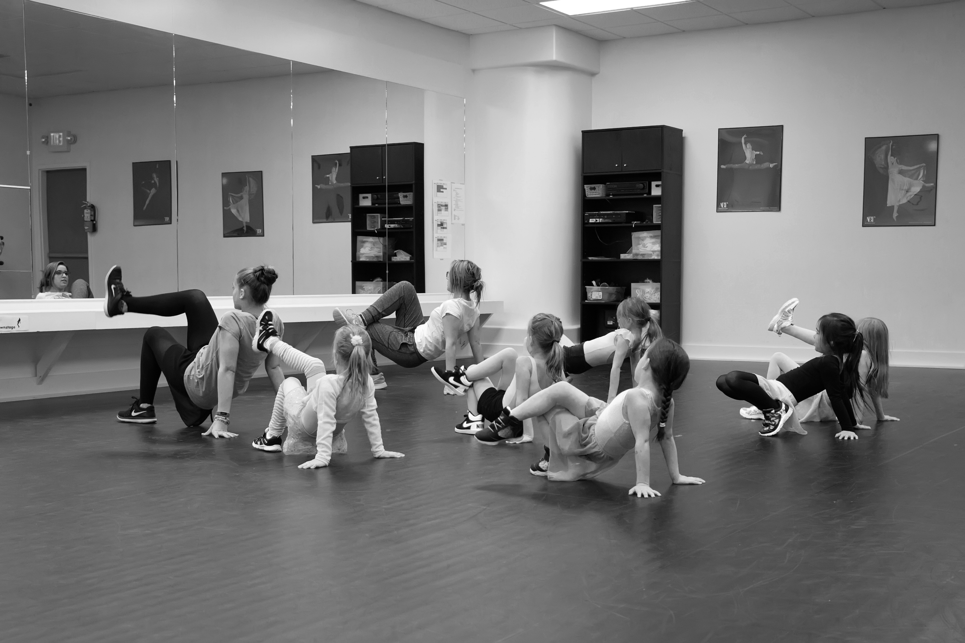 Dancers in RMSA studio